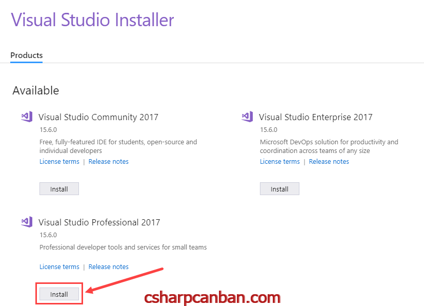 Download and Install Visual Studio